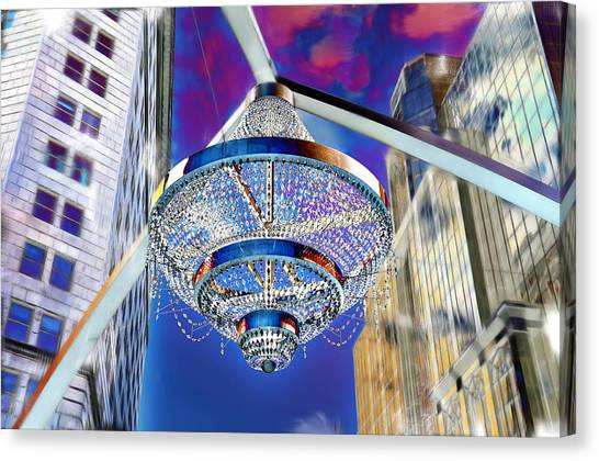 Cleveland Playhouse Square Outdoor Chandelier - 1 Canvas Print