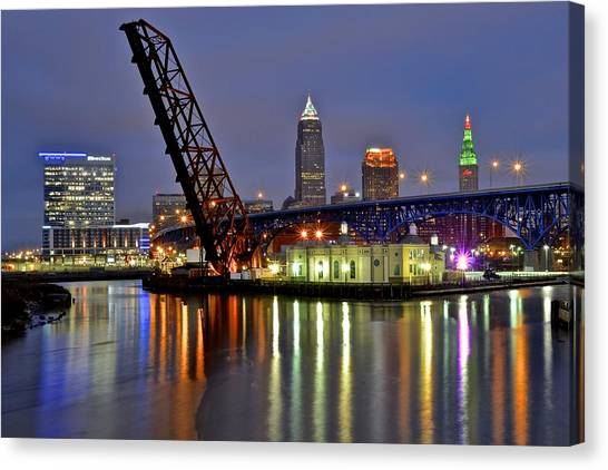 Cleveland State University Canvas Print - Cleveland Rainbow by Frozen in Time Fine Art Photography