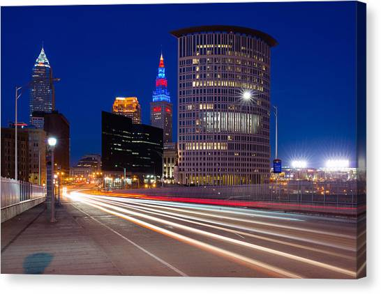 Cleveland Skyline Masterpiece Canvas Print
