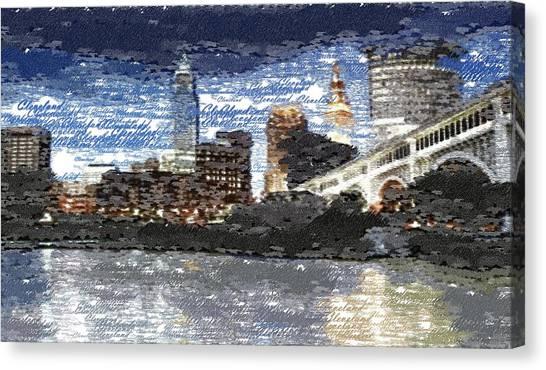 Cleveland Skyline - Typography Canvas Print