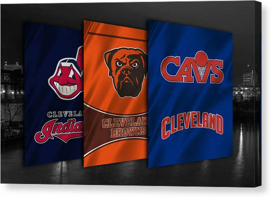 Brown Canvas Print - Cleveland Sports Teams by Joe Hamilton