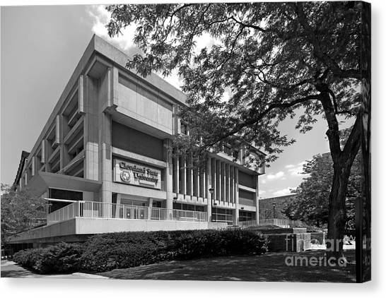 Ohio University Canvas Print - Cleveland State University Center by University Icons