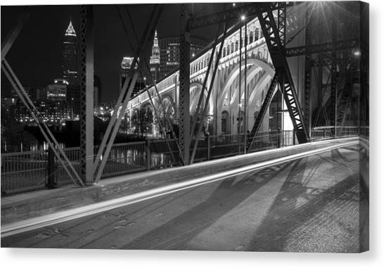 Cleveland Swing Bridge Skyline Canvas Print