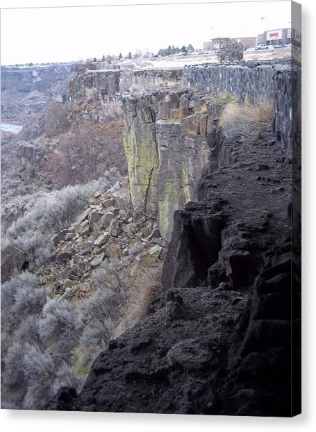 Cliff Canvas Print by Angela Stout