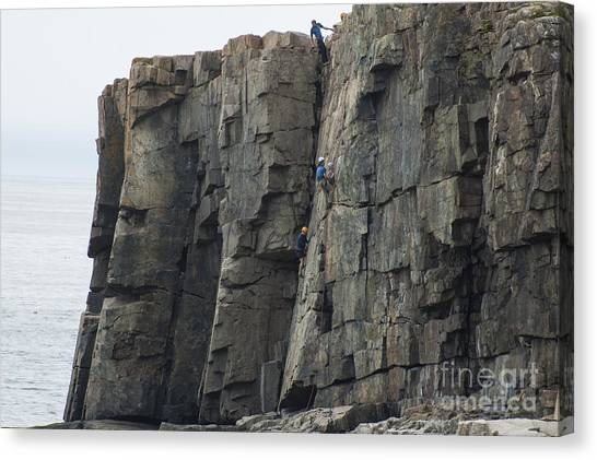 Cliff Climbers Canvas Print