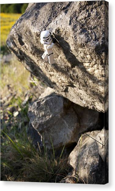 Stormtrooper Canvas Print - Cliff Hanger Stormtrooper by Samuel Whitton