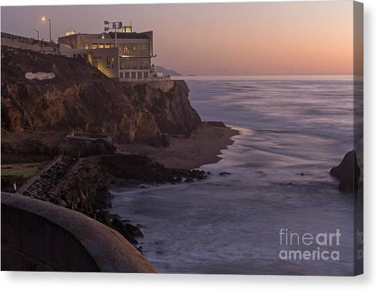 Cliff House Sunset Canvas Print