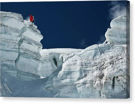 Glaciers Canvas Print - Cliff Jumping by Tristan Shu