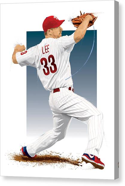 Cliff Lee Canvas Print