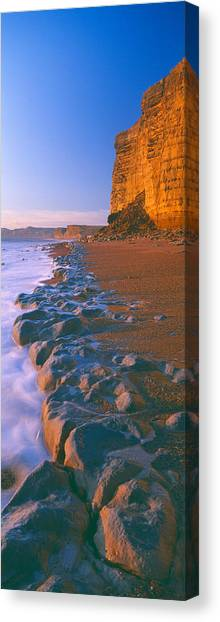 World Heritage Site Canvas Print - Cliff On The Beach, Burton Bradstock by Panoramic Images