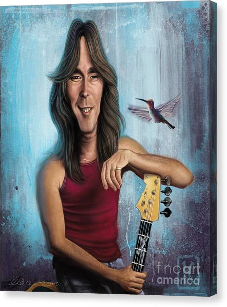 Ac Dc Canvas Print - Cliff Williams by Andre Koekemoer