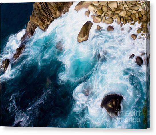 Cliffs In Acapulco Mexico II Canvas Print