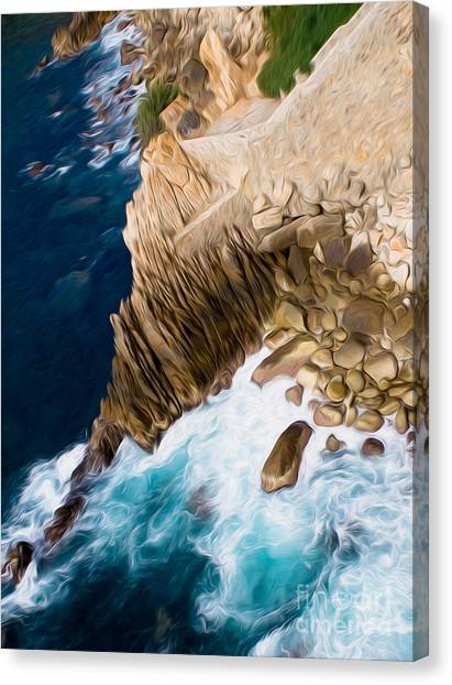 Cliffs In Acapulco Mexico Ill Canvas Print