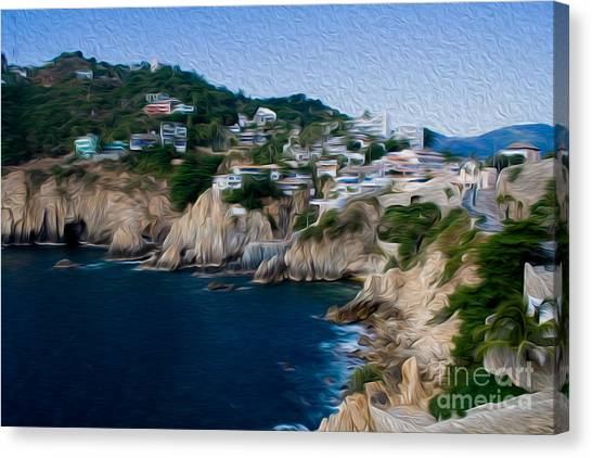 Cliffs In Acapulco Mexico I Canvas Print