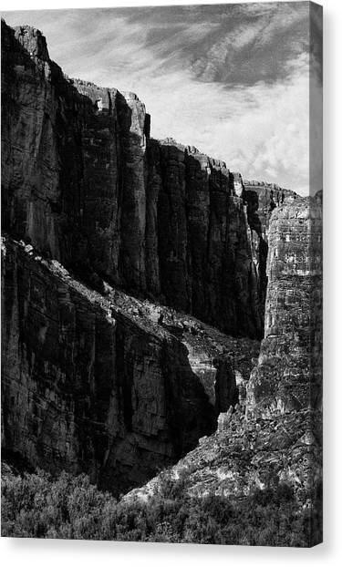 Cliffs In Contrast Canvas Print