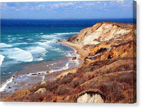 Cliffs Of Aquinnah Canvas Print by David Champigny