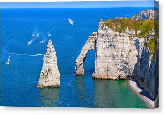 Cliffs Of Etretat France Canvas Print
