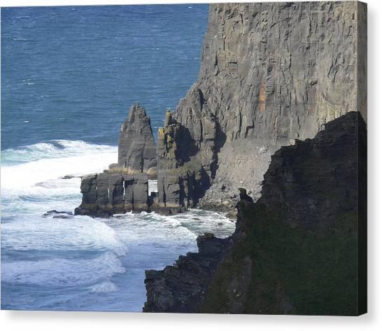 Ocean Cliffs Canvas Print - Cliffs Of Moher 6 by Mike McGlothlen