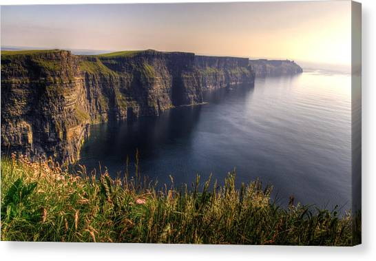 Cliffs Of Moher Distant Sunset Canvas Print