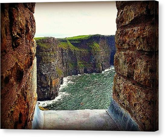 Cliffs Of Moher From O'brien's Tower Canvas Print