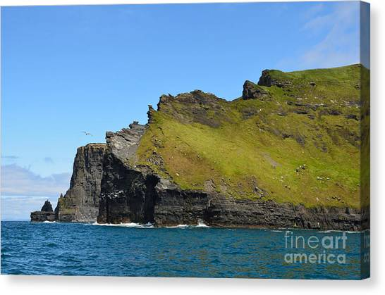 The Cliffs Of Moher Canvas Print - Cliffs Of Moher From The Sea by RicardMN Photography