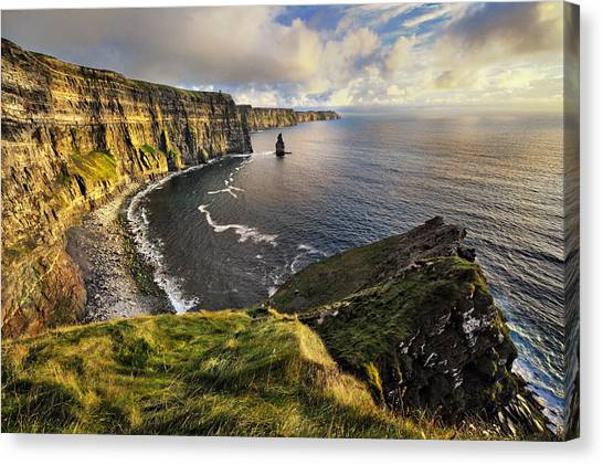 The Cliffs Of Moher Canvas Print - Cliffs Of Moher by Jan Sieminski