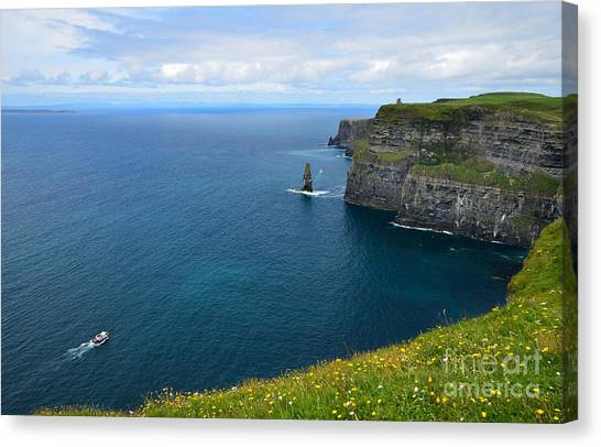 The Cliffs Of Moher Canvas Print - Cliffs Of Moher Looking North by RicardMN Photography