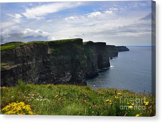 Cliffs Of Moher Looking South Canvas Print