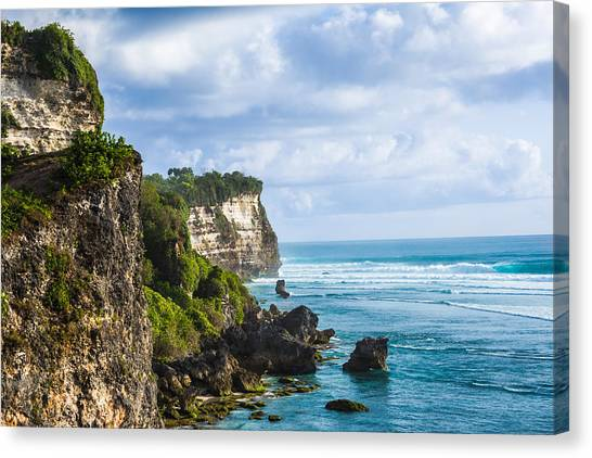Cliffs On The Indonesian Coastline Canvas Print