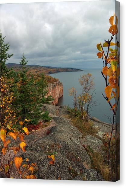 Cliffside Fall Splendor Canvas Print