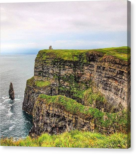 Ireland Canvas Print - #cliffsofmoher #ireland #landscape by Luisa Azzolini