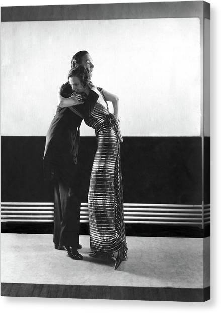 Clifton Webb And Irene Castle Dancing Canvas Print by Edward Steichen