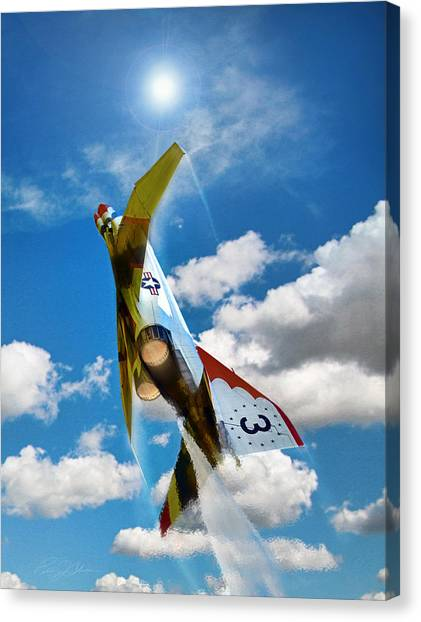 Sidewinders Canvas Print - Climb Out 3 by Peter Chilelli