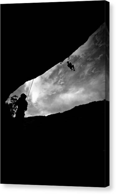 Climber Silhouette 1 Canvas Print by Chase Taylor