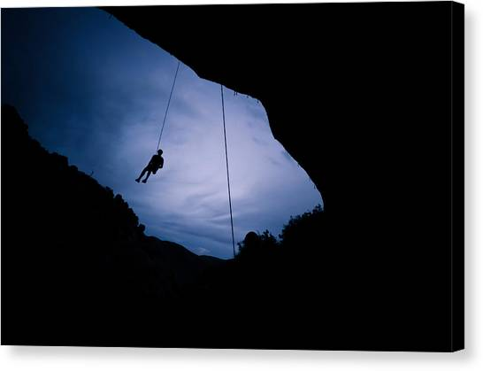 Climber Silhouette 2 Canvas Print by Chase Taylor