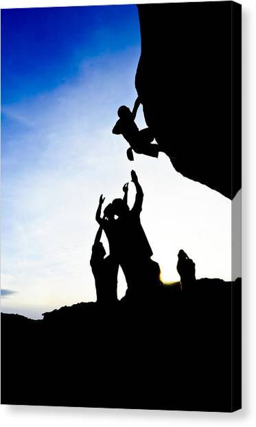 Climber Silhouette 3 Canvas Print by Chase Taylor
