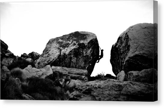 Climber Silhouette 4 Canvas Print by Chase Taylor