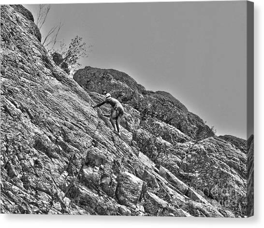 Climbing Canvas Print by Christian Jansen