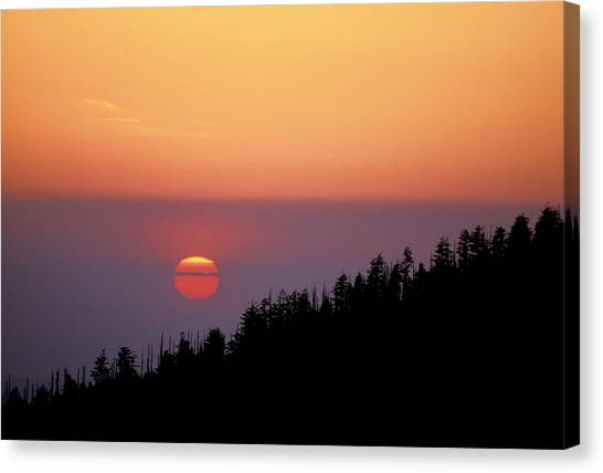Clingman's Dome Sunset 02 Canvas Print