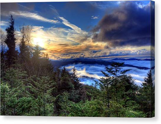 Clingman's Dome Sunset Canvas Print