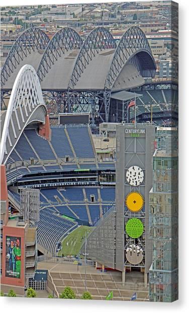 Mls Canvas Print - Seattle Seahawks Century Link Field by Brad Walters