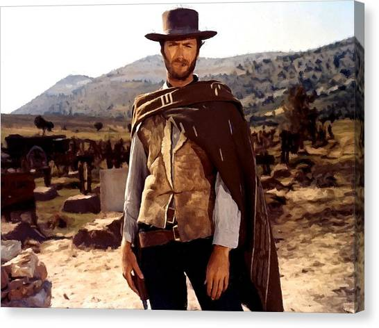 Clint Eastwood Outlaw Canvas Print