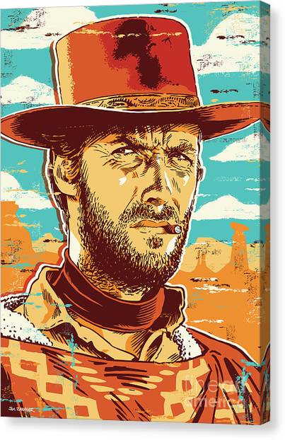 Clint Eastwood Pop Art Canvas Print