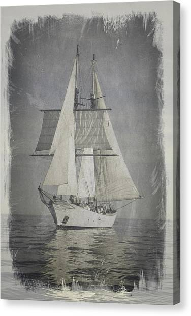 Clipper Under Sail Canvas Print