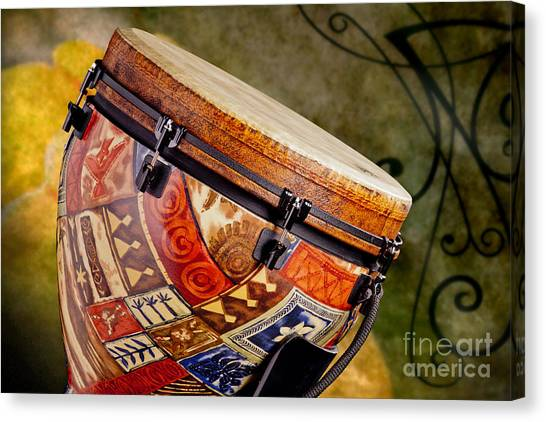 Djembe Canvas Print - Clissic Djembe African Drum Photograph In Color 3334.02 by M K  Miller