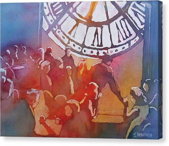 Clock Cafe Canvas Print
