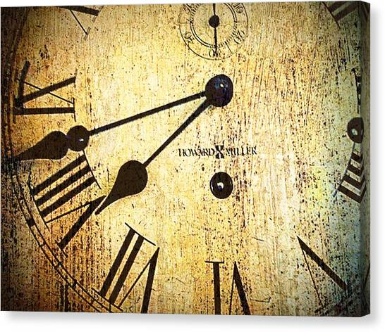 Clock Face Canvas Print