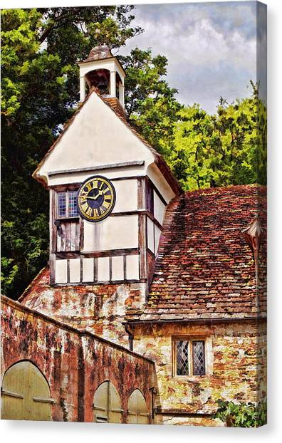 Clock Tower - Lacock Abbey Canvas Print