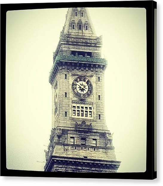 Harvard University Canvas Print - Clock Tower by Micah Watson
