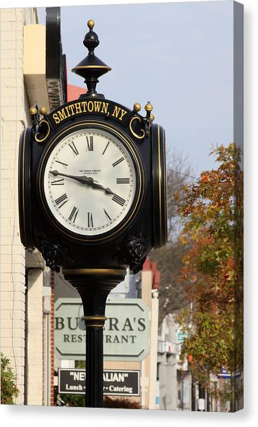 Clock Tower Smithtown New York Canvas Print